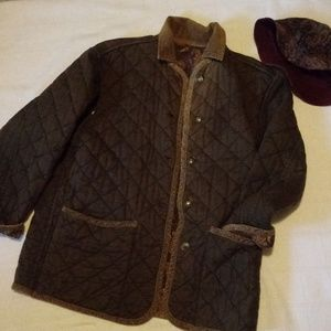 Banana Republic quilted jacket with hat